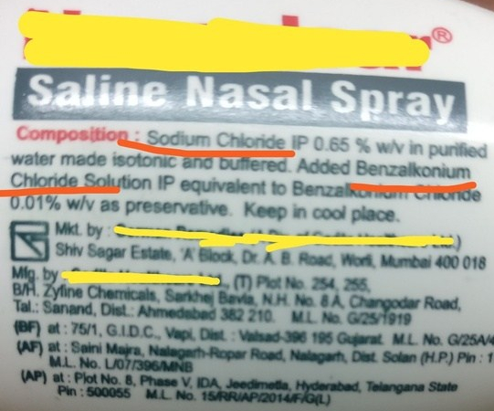 Image from Qora re saline nasal spray solution